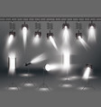 spotlight set with different transparent light vector image vector image