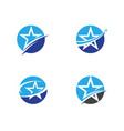 star logo template icon vector image vector image