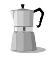 steel coffee pot vector image