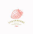 strawberry confectionary abstract sign vector image