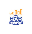 teamwork results line icon group of people vector image