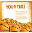 vector basketball background vector image