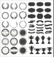 vintage premium styled ribbons badge laurels vector image vector image