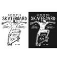 vintage skateboarding poster vector image vector image