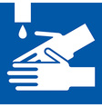 Wash hands sign vector image vector image
