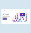 web site onboarding screens digital advertising vector image vector image