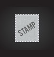 white stamp mockup eps 10 high quality vector image vector image