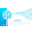 winter tree background vector image