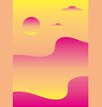 abstract gradient landscape of sunset over the sea vector image