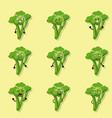 broccoli negative emotions vector image
