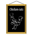 Chicken cuts vector image