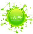Round Glossy Bubble with Inkblots vector image