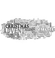 advent calendar revisited text word cloud concept vector image vector image