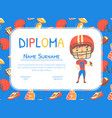 american football diploma sport achievements vector image