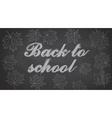 Back to School Chalkboard Background vector image vector image