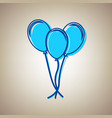 balloons set sign sky blue icon with vector image vector image