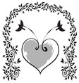 birds-with-a-heart vector image