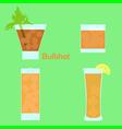 bullshot cocktail vector image vector image
