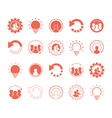 business icons and social media graphic elements vector image vector image