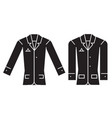 casual jacket black concept icon casual vector image vector image