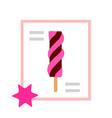 chocolate berry swirl lollipop icon flat isolated vector image vector image