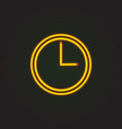 clock icon flat clock sign isolated vector image vector image