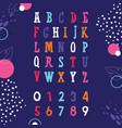 colored cheerful english alphabet flat symbols vector image