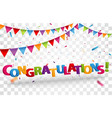 congratulations design letters vector image vector image