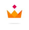 crown king royal geometric icon logo vector image vector image
