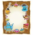 Cute coffee frame vector | Price: 3 Credits (USD $3)