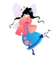 Cute little Love baby fairy in fly vector image
