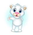 cute Polar bear presenting vector image vector image