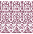 cutout paper lace pattern vector image vector image