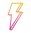 degraded line nice light thunder art design vector image vector image