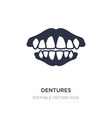 dentures icon on white background simple element vector image vector image