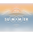 Emblem on the theme of summer vector image