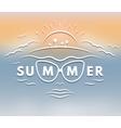 emblem on theme summer vector image