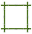 empty frame of bamboo stalks vector image