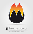 Energy power business icon vector image