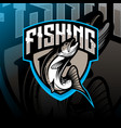 fishing mascot logo vector image