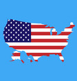 flag map usa vector image vector image
