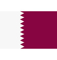 Flag of Qatar vector image vector image