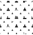 fort icons pattern seamless white background vector image vector image