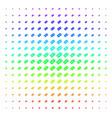 free tag shape halftone spectrum grid vector image vector image