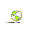 globe icon design vector image