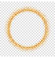 gold circle glitter frame golden confetti dots vector image vector image