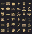 good work icons set simple style vector image vector image
