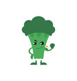 green broccoli shows his big biceps isolated on vector image