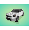 Grey sport car on green gradient background - vector image