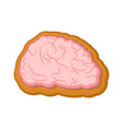 halloween cookie brain cookies for terrible vector image